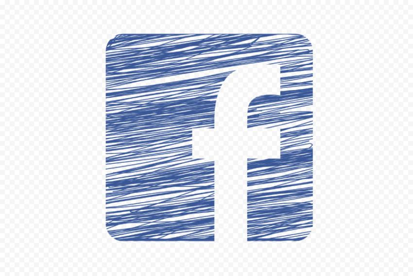 Square Fb Facebook Social Media Sketch Icon