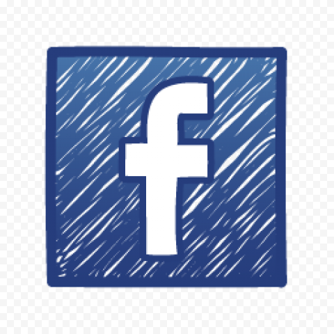 Square Fb Facebook Social Media Sketch Logo