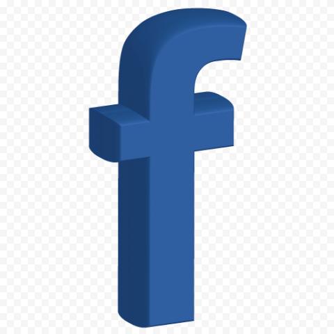 3D Blue Fb Facebook F Letter Symbol Logo Icon