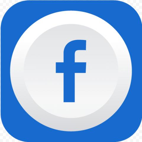 Blue & White Fb Facebook Logo Icon Button
