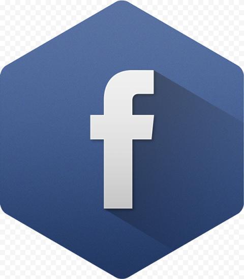 Flat Hexagon Shape Facebook Fb Logo Icon