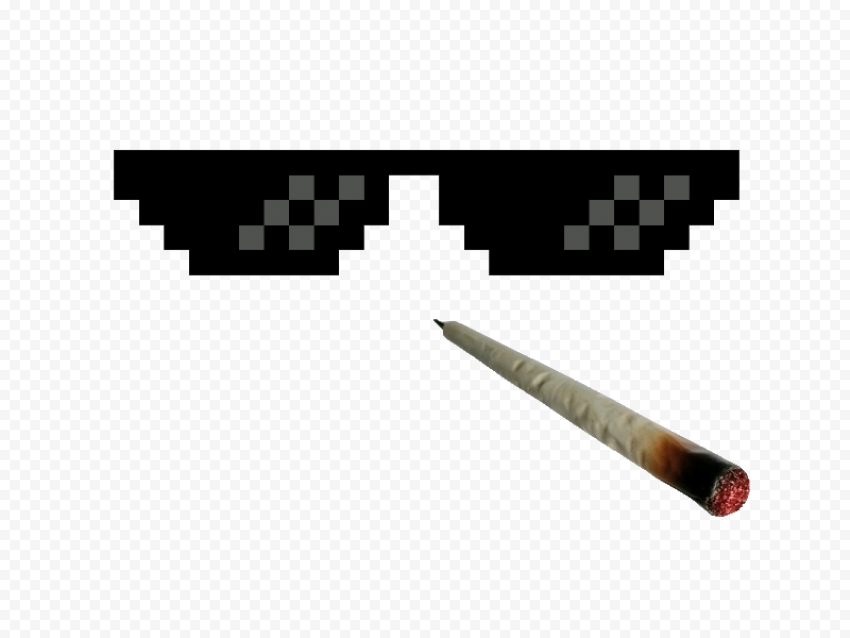 Dark Sunglasses Thug Life With Joint