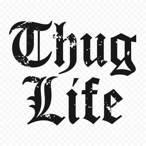 Thug Life Tattoo Logo Text Sticker