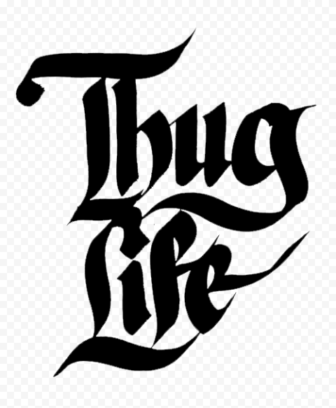 Thug Life Tattoo Logo Typography Illustration