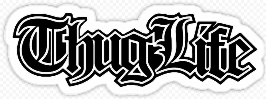Thug Life Logo Typography Sticker