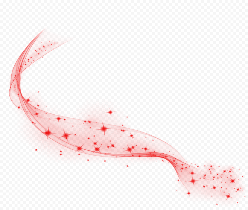 Red Sparkle Line Stars Thumbnail Effect