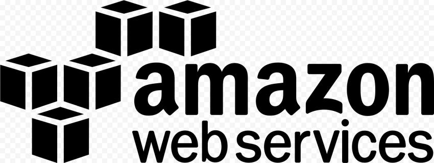 Black Amazon AWS Web Services Logo