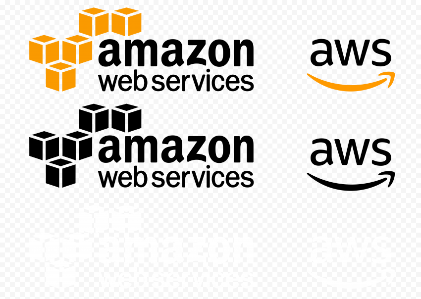 HQ Amazon Web Services AWS Logo & Symbol
