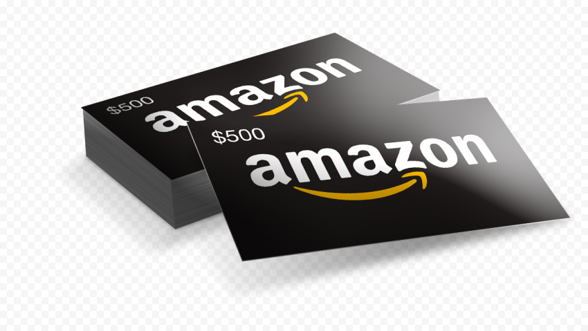 Amazon 500$ Gift Cards Illustration