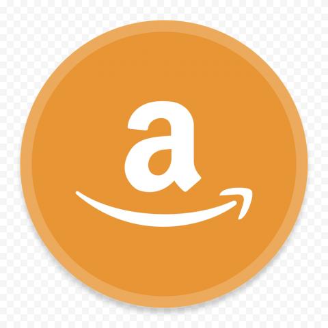 Round Circle Orange Amazon White A Letter Icon