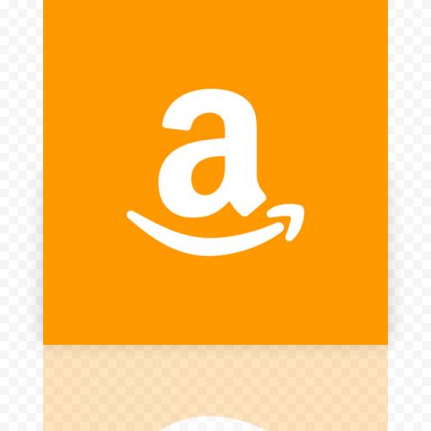 Orange Square Amazon A Letter Sign Symbol Logo