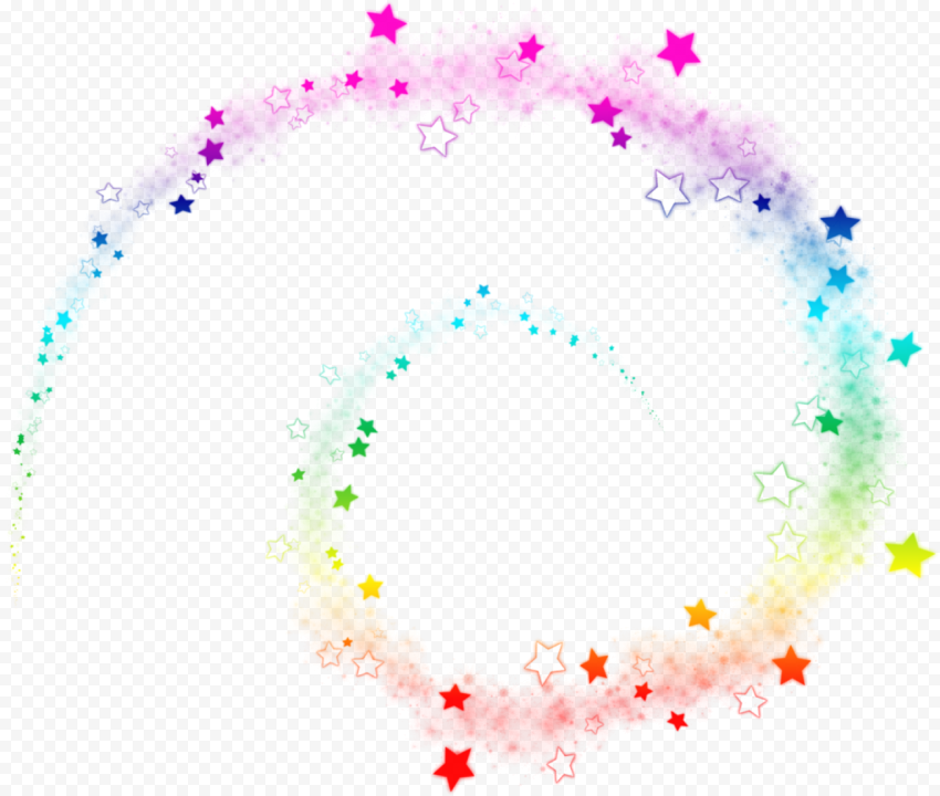 Spiral Lines Stars Sparkle Rainbow Colors