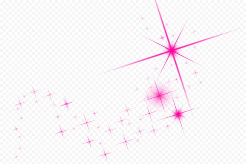 Pink Sparkle Shining Stars Thumbnail Effect