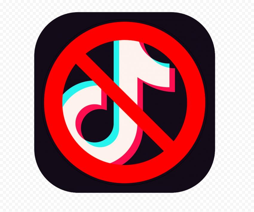 Ban Tiktok Logo Square Icon Citypng