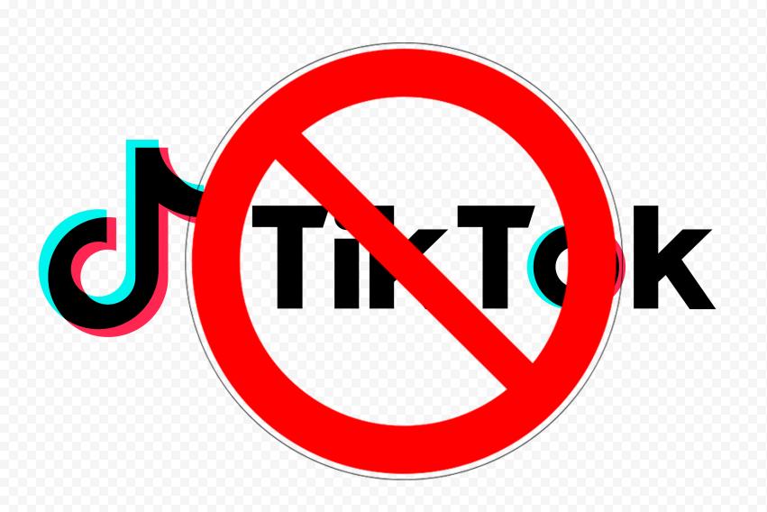 Logo TikTok With Ban Sign