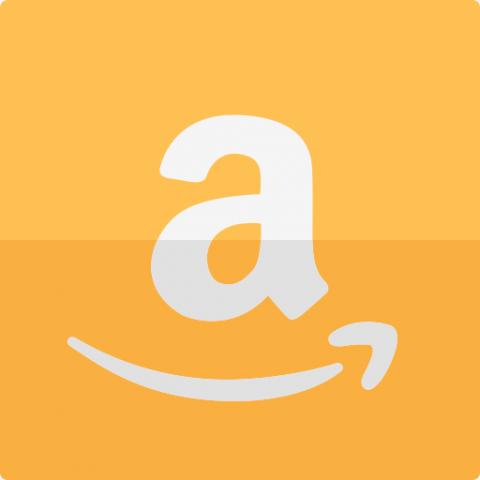 Square Orange Amazon Icon Logo A Letter