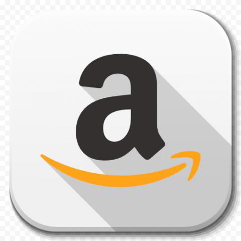 White Square Mobile App Amazon Logo Icon