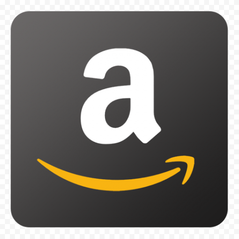 Black Square Mobile App Amazon Logo Icon