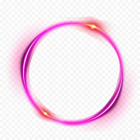 Purple Outline Circle Glow Light Effect