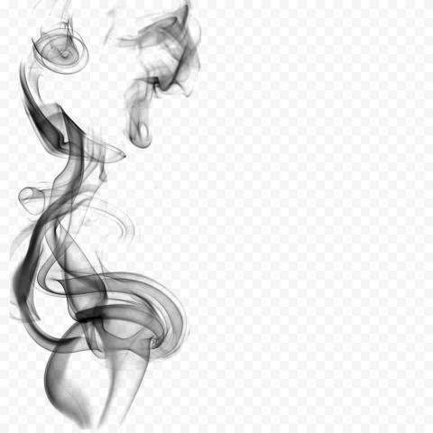 Black Light Smoke Curved Rises Up Effect