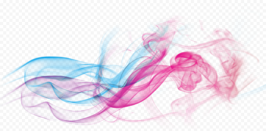 Colored Smoke Blue To Pink Gradient Colors Effect