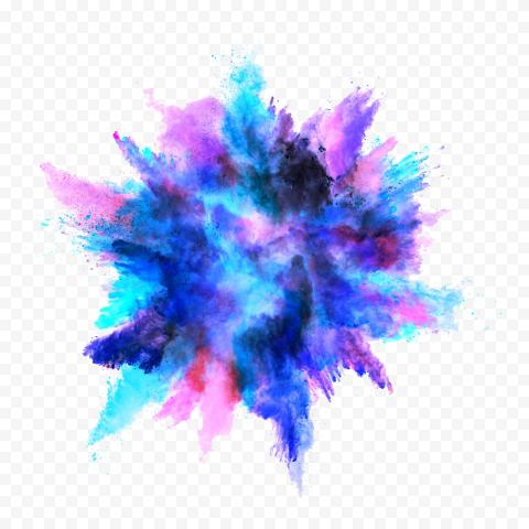 Blue & Pink Watercolor Smoke Powder Explosion