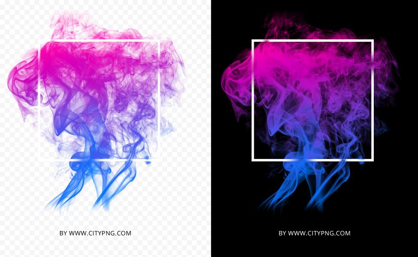 Abstract Colorful Smoke With White Frame HD
