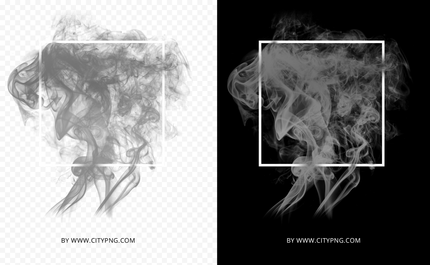 Gray Abstract Smoke With White Frame HD