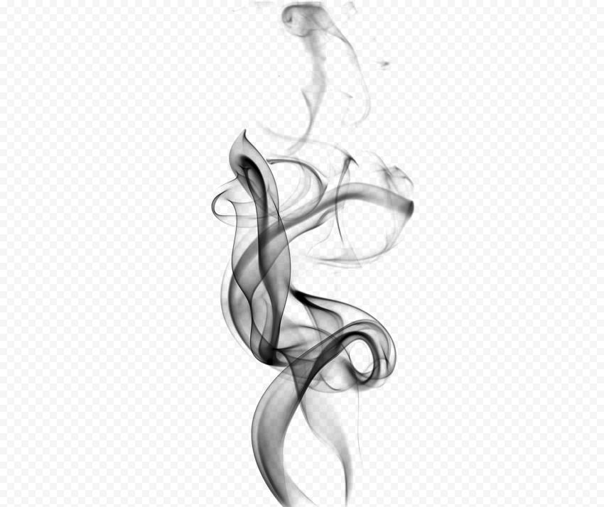 Black Light Curved Smoke Lines