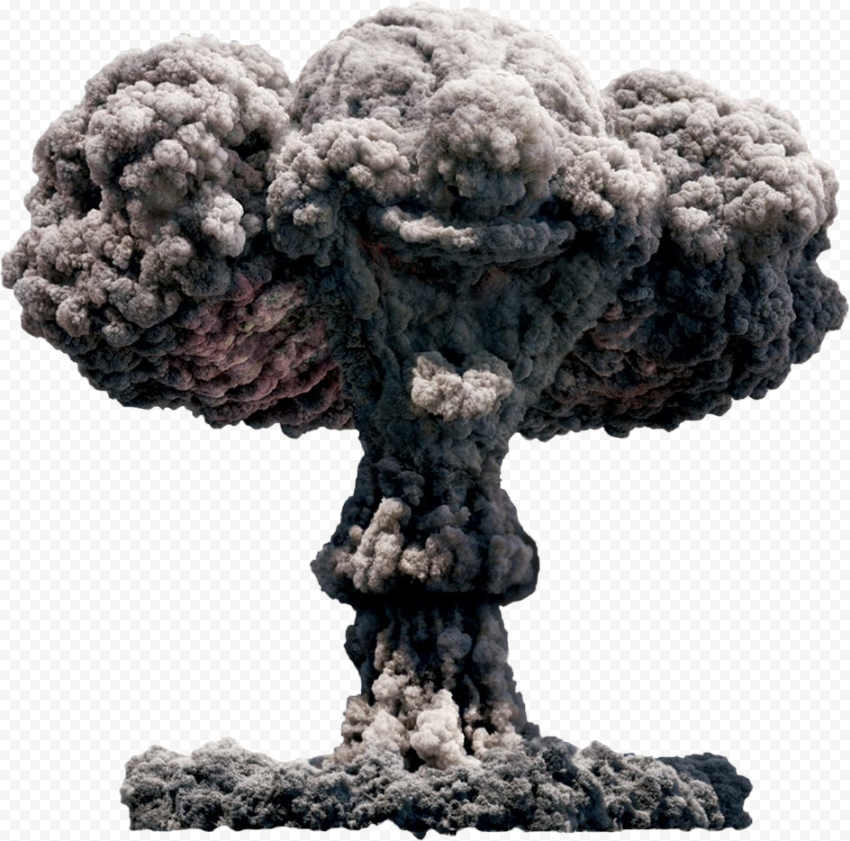 Big Bomb Explosion Smoke