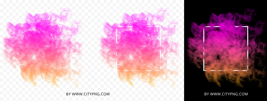 HD Colored Colorful Smoke With White Frame