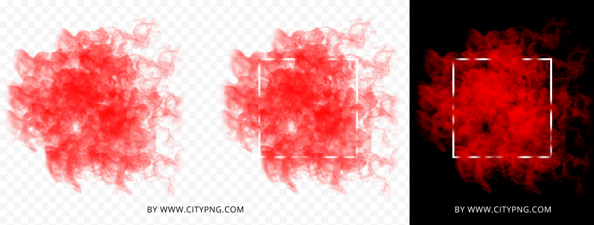 HD Red Smoke With White Frame