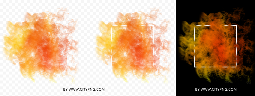 HD Fire Smoke Background With White Frame