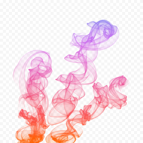 Three Shape Of Colored Smoke