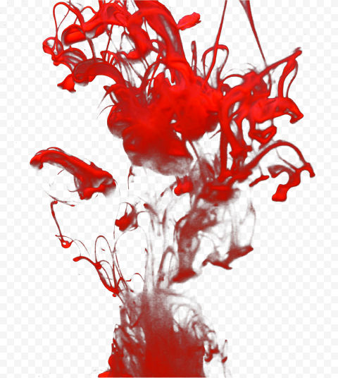 Red Color Painting Paint Splash Effect