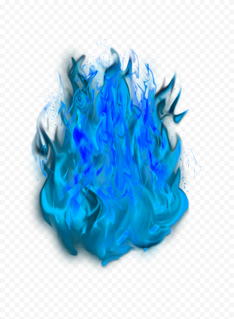 Blue High Resolution Flame Burn Fire Without Smoke