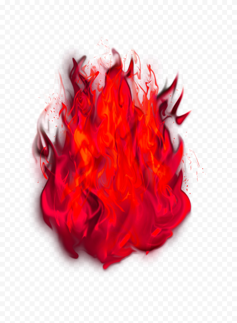 Red High Resolution Flame Burn Fire Without Smoke