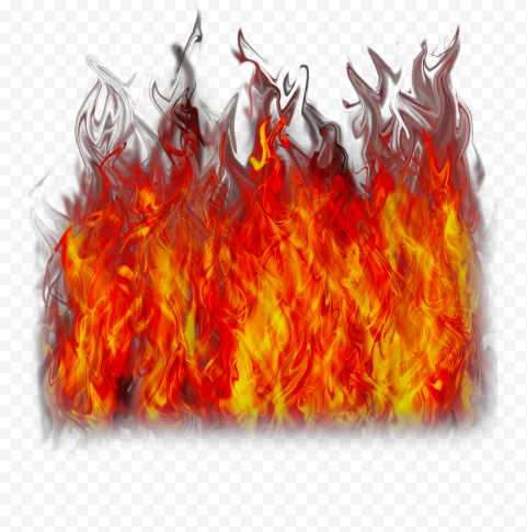 Realistic Orange Fire Flame Burning Without Smoke