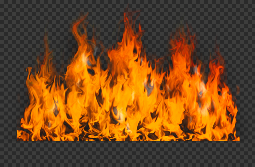 Realistic Fire Large Flame Burning Without Smoke
