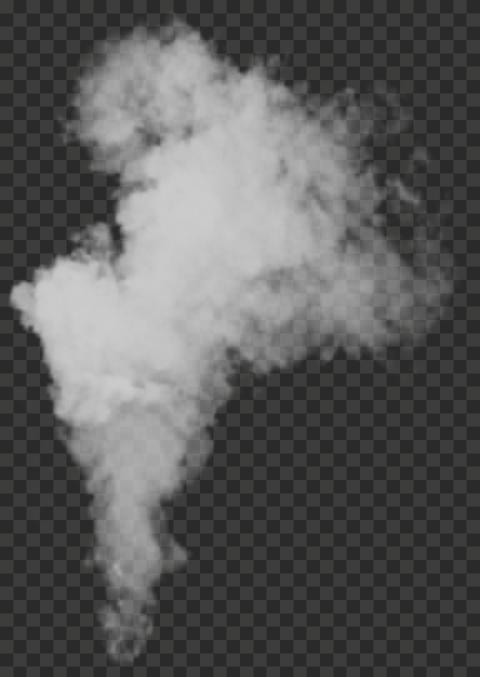 White Smoke Rises Up Effect