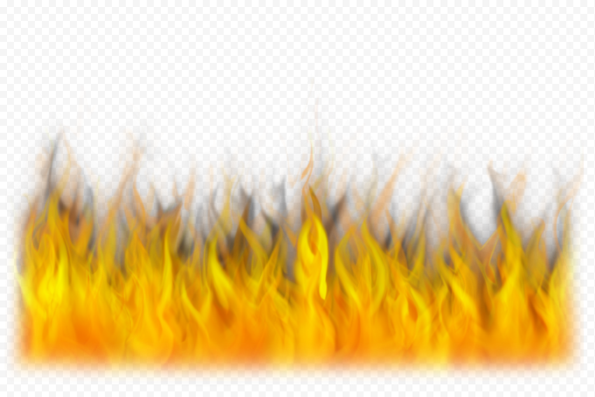 Horizontal Fire Flames Without Smoke