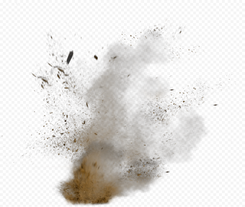 Sand Dust Explode Explosion Effect with Smoke