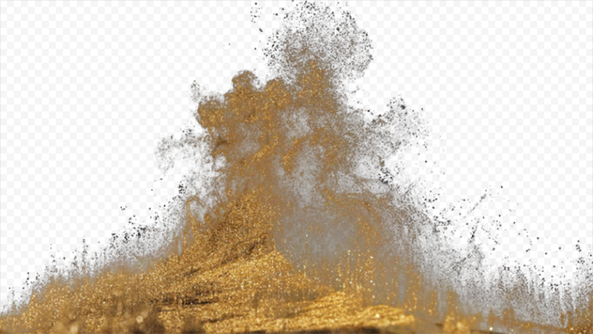 Sand Dust Explosion Effect Without Smoke