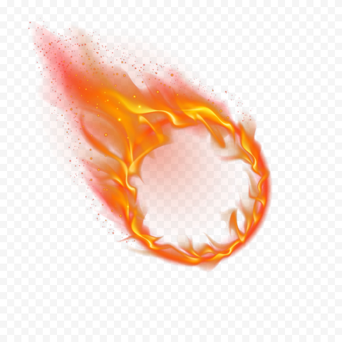 HD Round Outline Frame Fire Flame Illustration