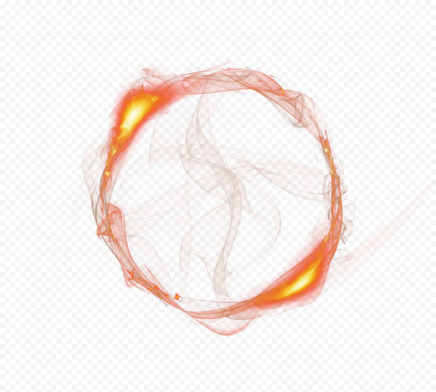 Thumbnail Effect Fire Outline CIrcle Gold Light