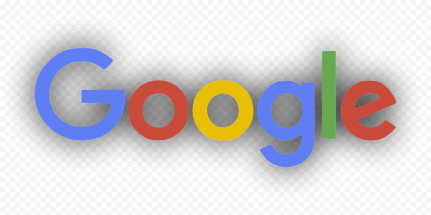 Google Logo With Black Shadow