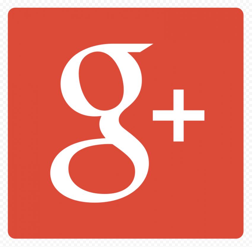 Flat Square Red Google G Plus App Icon