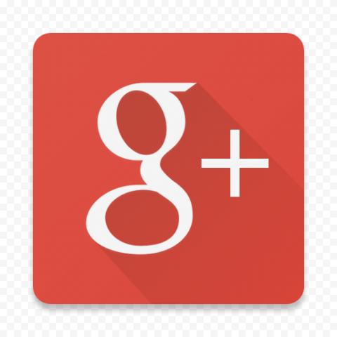 Flat Square Red Google G Plus Icon