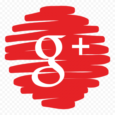 G Google Plus Icon Red Scribble Pen Style