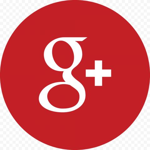 Red Round Simple Google G Plus Icon